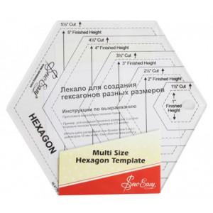 Лекало для создания шестиугольников разных размеров от Hemline