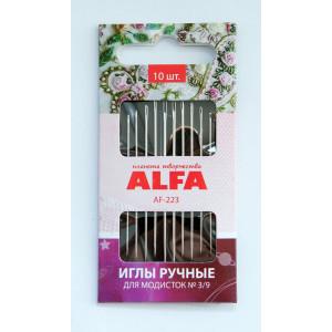 Иглы ручные для модисток № 3/9 AF-223 от ALFA
