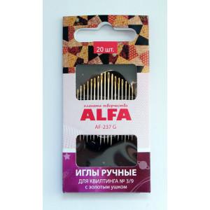 Иглы ручные для квилтинга с золотым ушком № 3/9 AF-237G от ALFA
