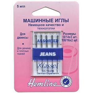 Иглы для бытовых швейных машин джинс № 90, 100 от Hemline