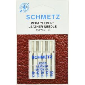 Иглы для кожи 130/705H LL № 80,90,100 от Schmetz