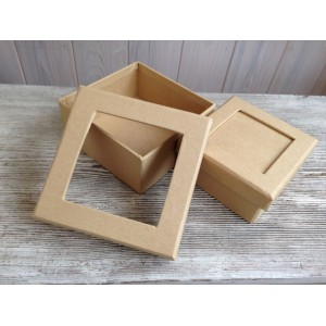 Заготовка для декупажа набор квадратных коробочек от Efco