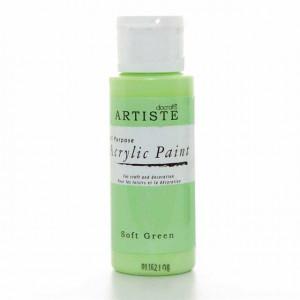 Краска акриловая ARTISTE цвет Soft Green от DOCRAFTS