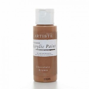 Краска акриловая ARTISTE цвет Chocolate Brown от DOCRAFTS