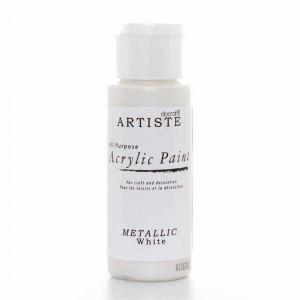 Краска акриловая металлик ARTISTE цвет Metallic White от DOCRAFTS