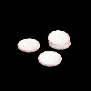Набор 4 тарелки с розовой каймой от Art of Mini