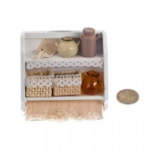 Полочка двойная с корзинками и баночками от Art of Mini