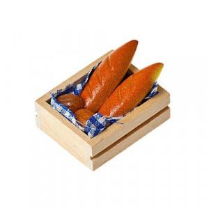 Хлеб в деревянном лотке от Art of Mini