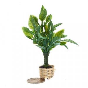 Растение в горшке зеленое с широкими листьями от Art of Mini
