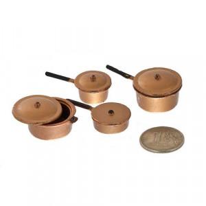 Набор металлической посуды Медные кастрюльки от Art of Mini