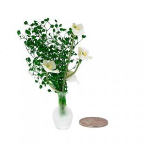 Белые цветы в стеклянной вазе от Art of Mini