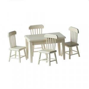 Набор стол и 4 стула цвет кремовый от Art of Mini