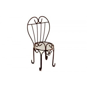 Металлический мини стул с сердцевидной спинкой от ScrapBerry's