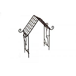 Металлическая мини арка-домик коричневая  от ScrapBerry's