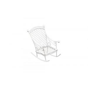 Металлическое мини кресло-качалка белое от ScrapBerry's