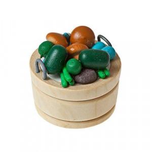 Фрукты в круглом деревянном лотке от Art of Mini