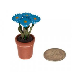 Растение в горшке голубые цветы от Art of Mini