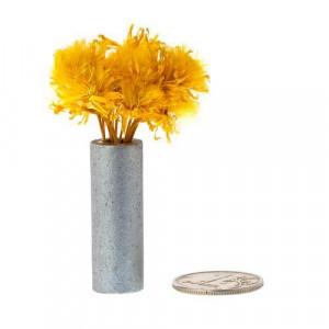 Желтые цветы в серой вазе от Art of Mini