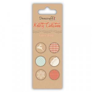 Набор тканевых брадс, Krafty Christmas Fabric