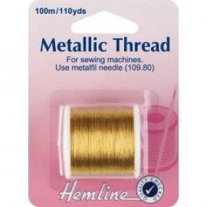 Нить металлизированная для швейных машин цвет Золото от Hemline