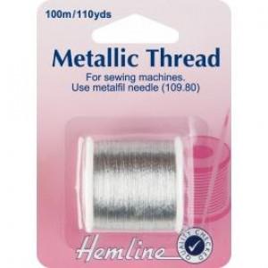 Нить металлизированная для швейных машин цвет Серебро от Hemline