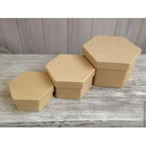 Набор шестиугольных коробочек 3 штуки, Efco
