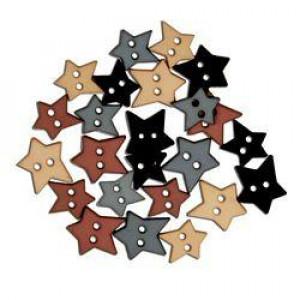 Набор пуговиц Matte Heritage Stars от Favorite Findings