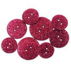 Набор пуговиц Glitter Cerise от Favorite Findings