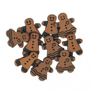Набор пуговиц  Gingerbread Cookies от Favorite Findings