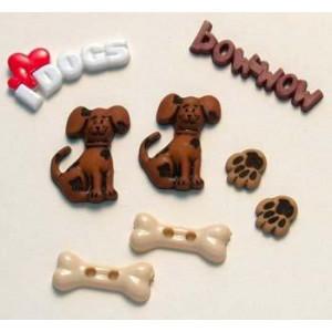 Набор пуговиц I love Dogs от Favorite Findings
