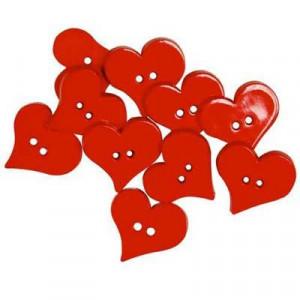 Набор пуговиц Valentines Hearts от Favorite Findings
