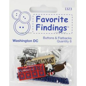 Набор пуговиц Washington DC от Favorite Findings