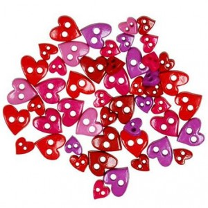 Набор пуговиц Colorful Mini Hearts от Favorite Findings
