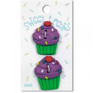 Пуговица Raspberry Cupcake от Sweet Treats
