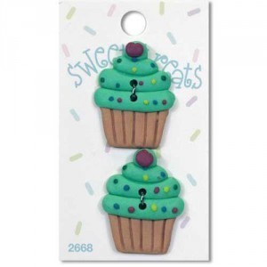 Пуговица Green Cupcake от Sweet Treats