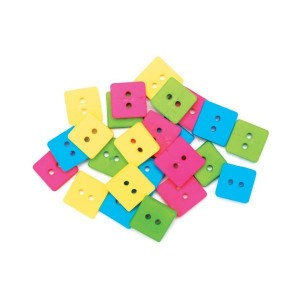 Набор пуговиц Bright Squares от Favorite Findings