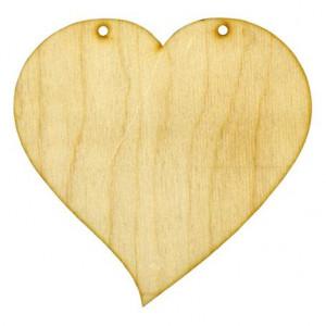 Заготовка для декупажа Сердце Изогнутое от Woodbox