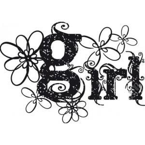 Штамп резиновый на деревянной основе Girl от Stamperia