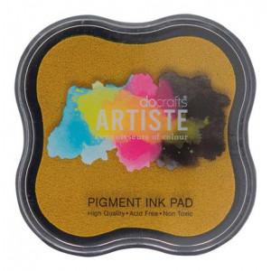 Штемпельная пигментная подушечка Dark Yellow Artiste от Docrafts