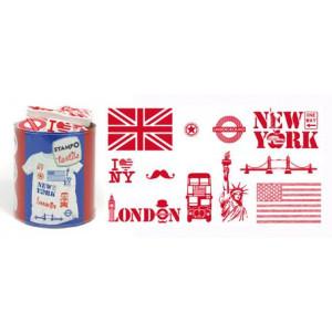 Набор штампов по текстилю London - New York от AladinE