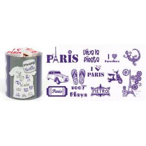 Набор штампов по текстилю Paris - Barcelona от AladinE