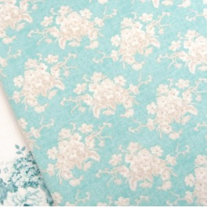 Tilda White Flower Teal
