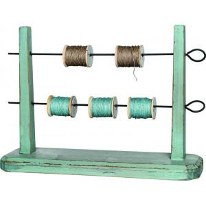 Полочка для лент из дерева с металлическими держателями, Tilda