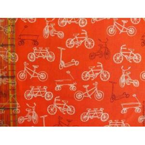 Ткань Велосипеды из коллекции Летняя Прогулка от Michael Miller