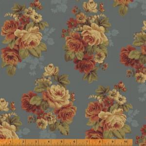 Ткань WHARTON Main Floral Blue, Windham Fabrics
