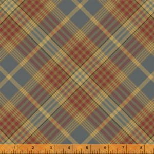 Ткань WHARTON Coordinating Plaid Slate Blue, Windham Fabrics