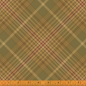 Ткань WHARTON Coordinating Plaid Green, Windham Fabrics