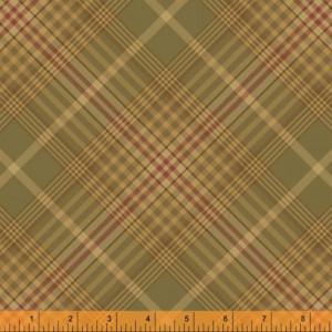 Ткань  Плед цвет зеленый от Windham Fabrics