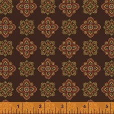 Ткань WHARTON Foulard Brown, Windham Fabrics