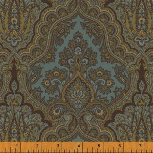 Ткань WHARTON Multi-colored Paisley Slate Blue, Windham Fabrics